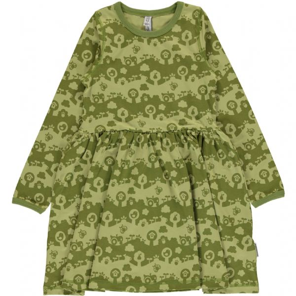 Maxomorra Long Sleeve Spin Dress Garden Landscape